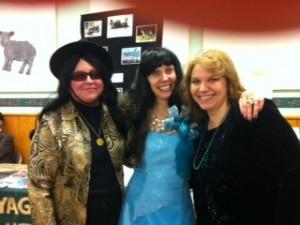 Brenda (we think) Kristi (our Mardi Gras Hostess) and Monika