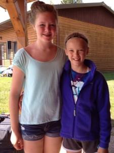 Kaitlin & Kelsey at Camp Hiawatha